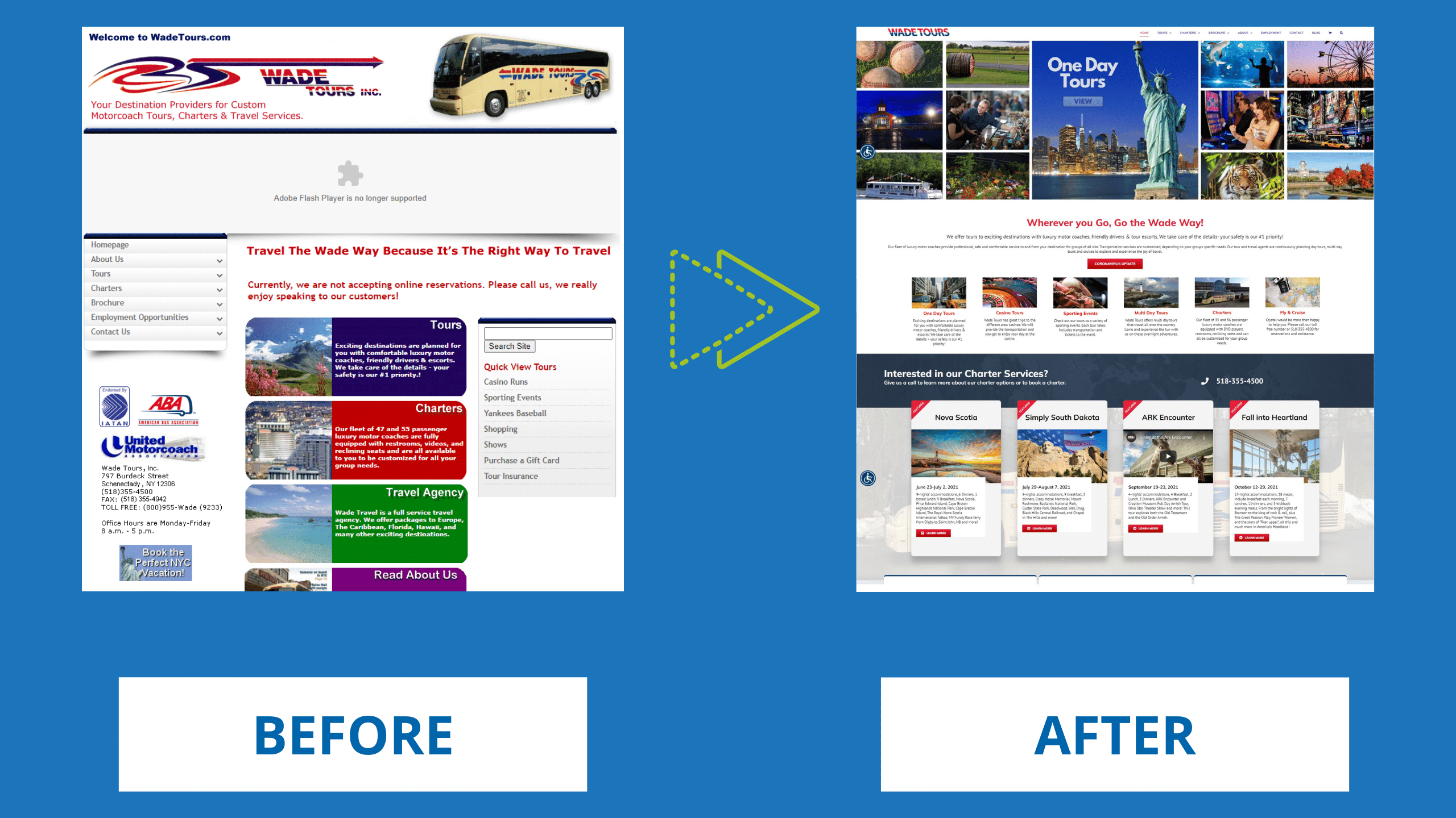 Tour Bus Company Website Design