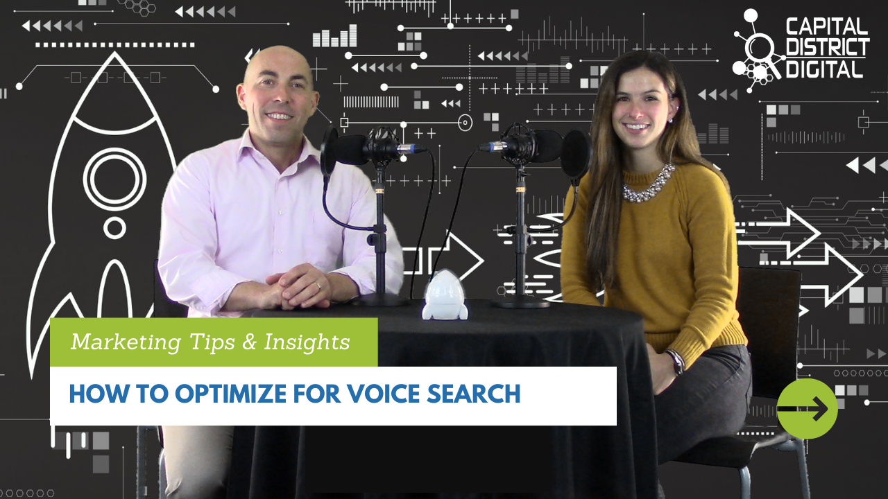 How to Optimize for Voice Search blog post graphic