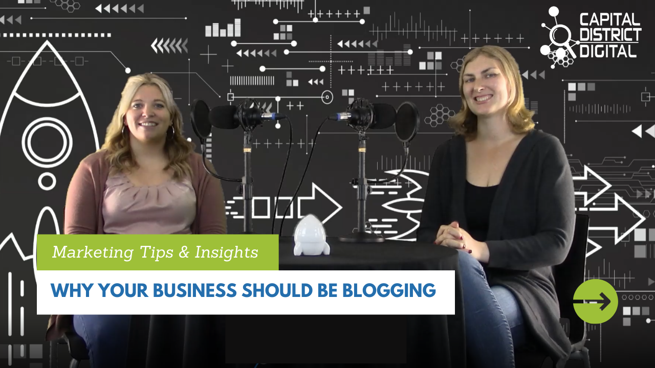 Why your Business Should Be Blogging Blog Post Graphic